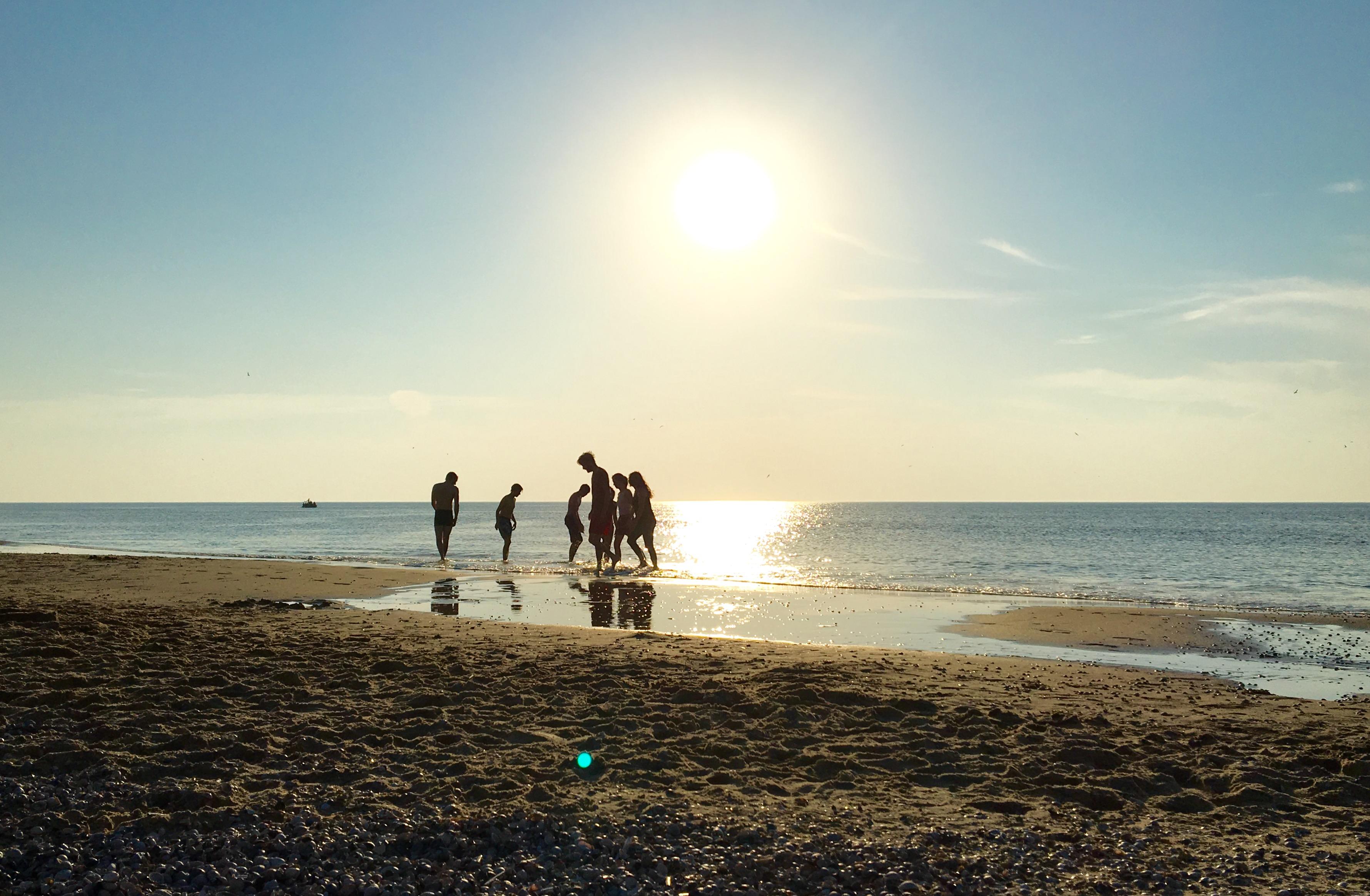 Urlaub auf Texel –Abendstimmung am Strand