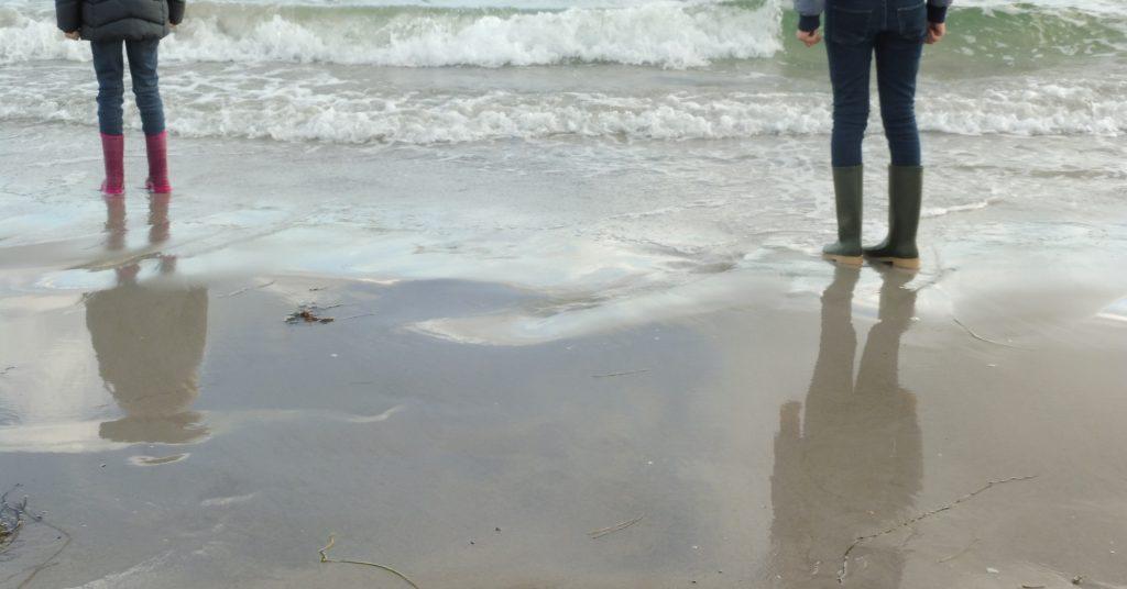 Gummistiefel Strand Rügen