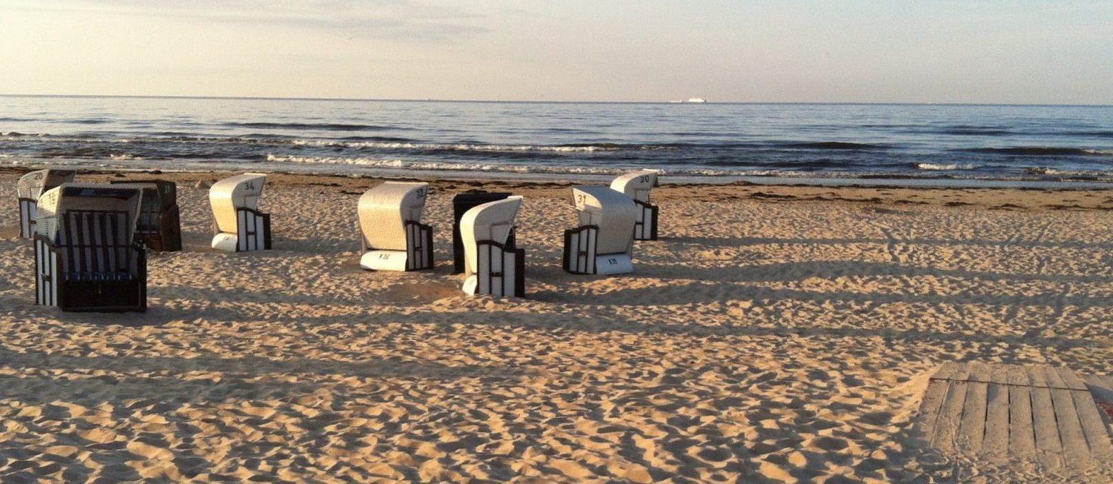 Strandkörbe am Strand von Ahlbeck, Usedom