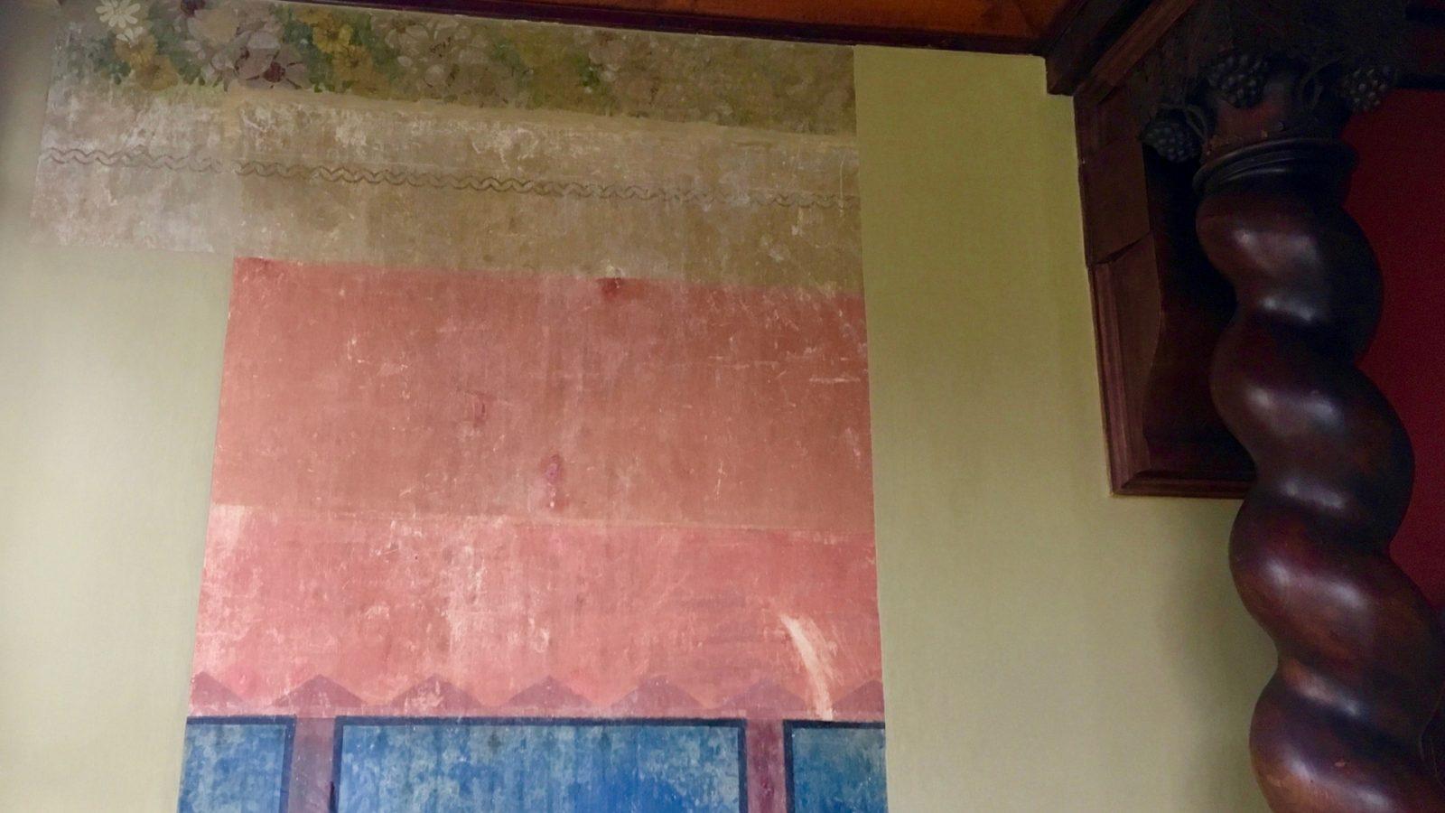 ursprüngliche Wandbemalung in der Villa Dorothea in Heringsdorf