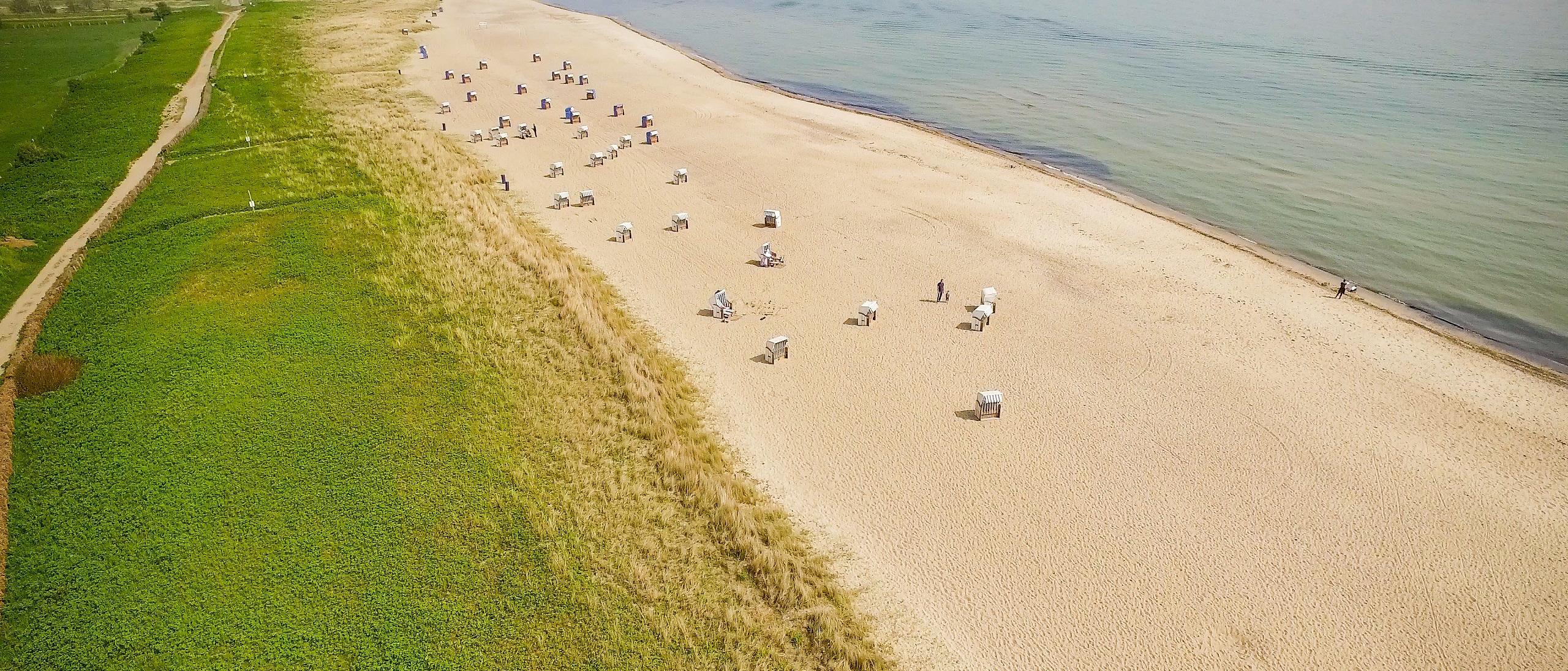 Schönste Strände der Ostsee: Weidefelder Strand bei Kappeln