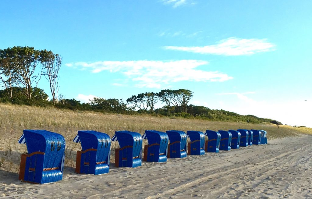 Strandkörbe am Strand von Graal-Müritz
