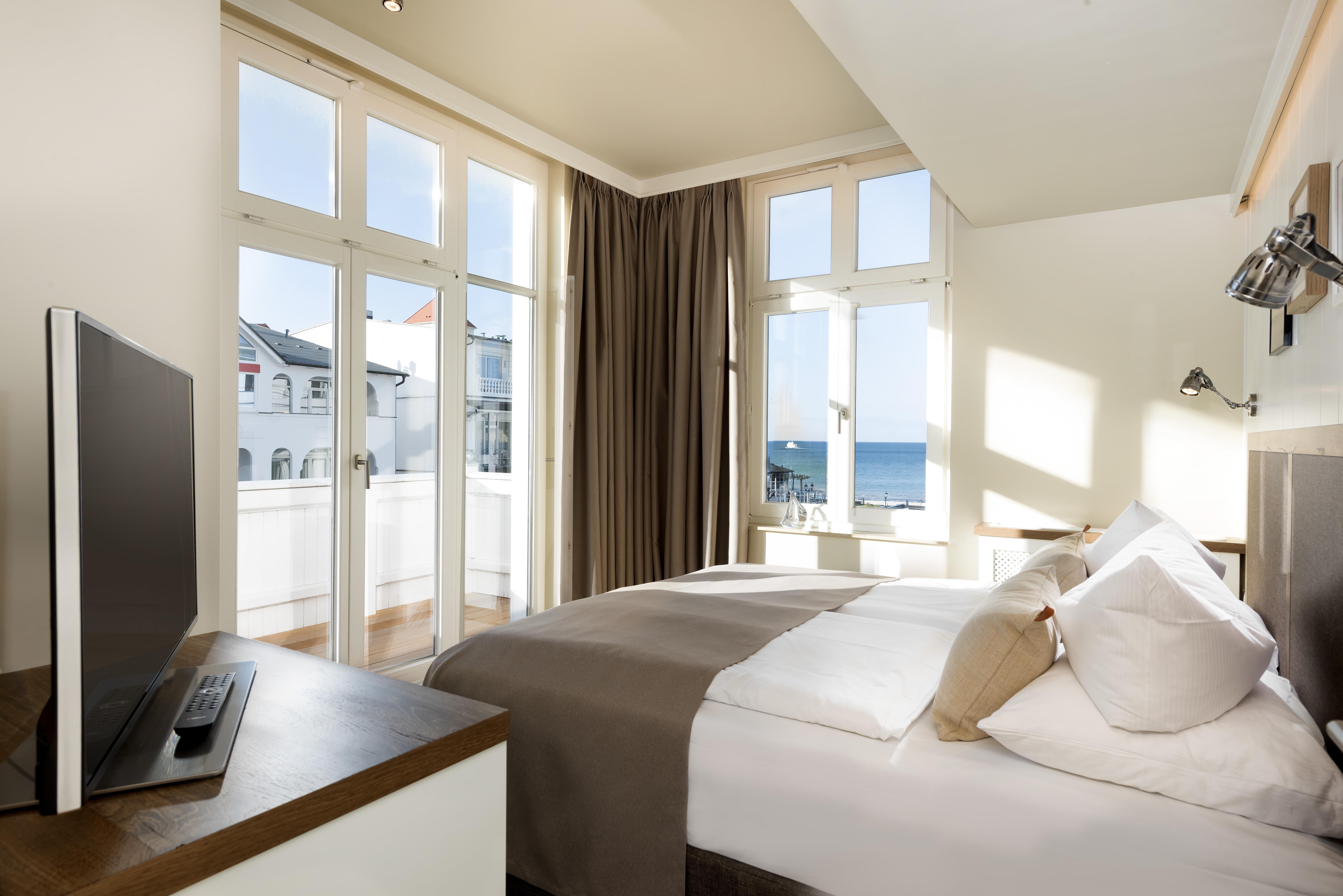 Hotelzimmer mit Blick auf die Ostsee