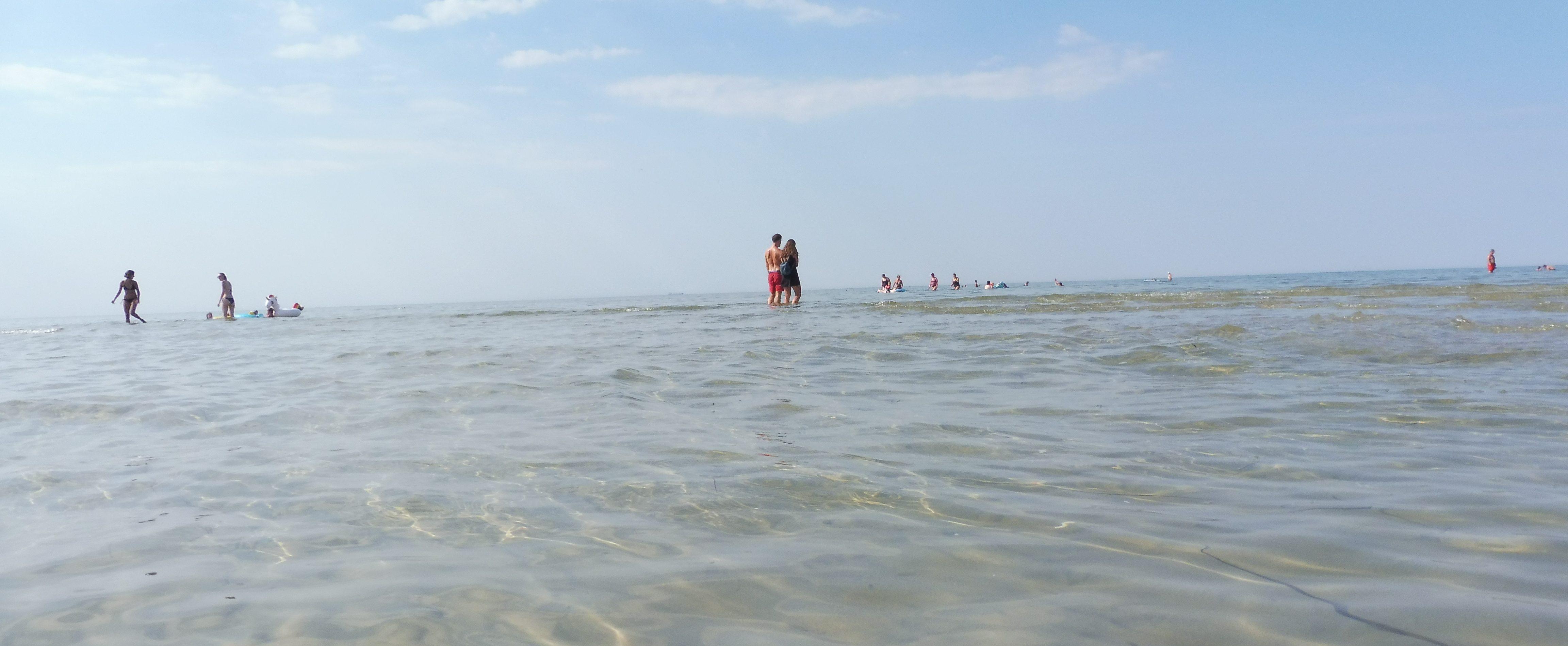 Der Strand von Gollwitz auf Poel Sandbank