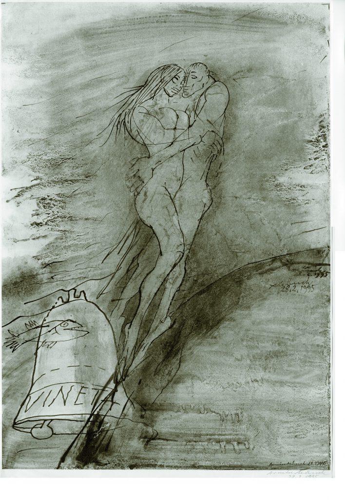Sicht des Künstlers Armin Münch auf Vineta und die Meerjungfrau