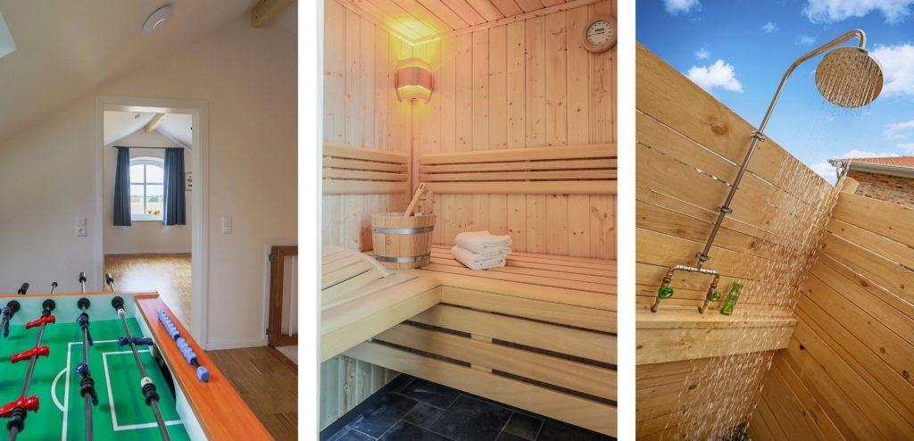 Küselhof Tischkicker Sauna Außendusche